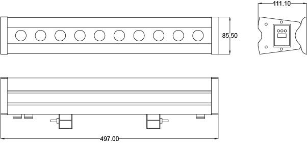 REFLECTOR LED WALL WASHER RL5-10X5-RGBW-IP65 Diagrama HB LEDS