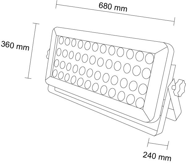 REFLECTOR LED WALL WASHER RL-48X10-RGBW-IPG5 Diagrama HB LEDS